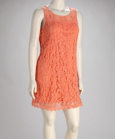 Plus Size Coral Lace Dress » Home Design 2017