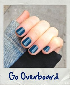 blue nails essie overboard Polaroid