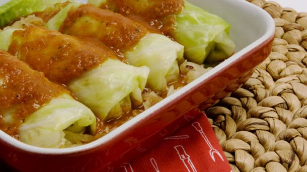 Vegetarian Cabbage Rolls I would also add hamburger to this and they ...