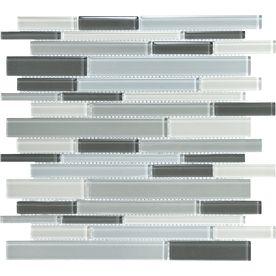 Back splash - Gray Glass Tiles