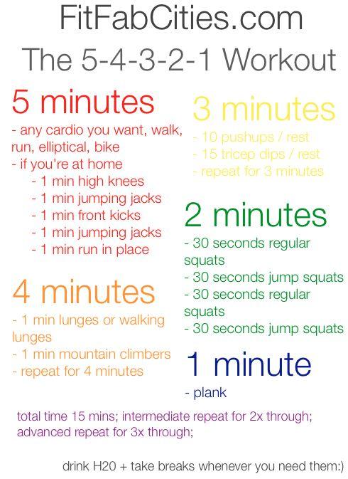 5-4-3-2-1 #workout.