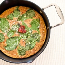Spinach and Sun Dried Tomato Frittata by cookingwithmel