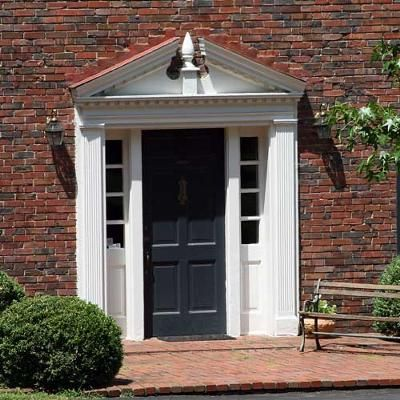 Front door pediment moldings pinterest for Exterior pediments