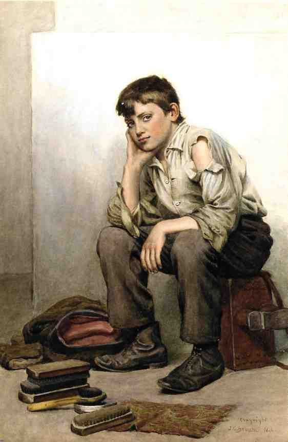 SHOE SHINE BOY, BY JOHN GEORGE BROWN