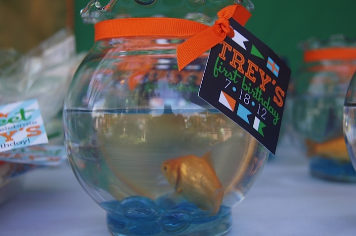 real goldfish party favors