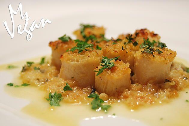 Vegan Baked 'Scallops' #recipes #veganrecipes #vegan