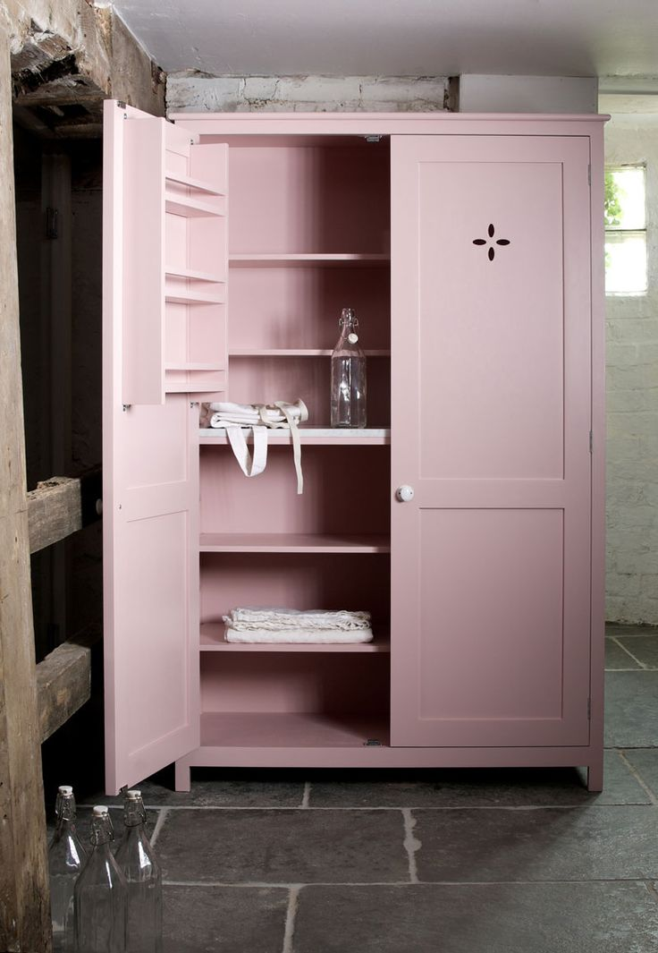 Devol kitchens pink pantry cupboard furniture ideas for Kitchenette cupboard