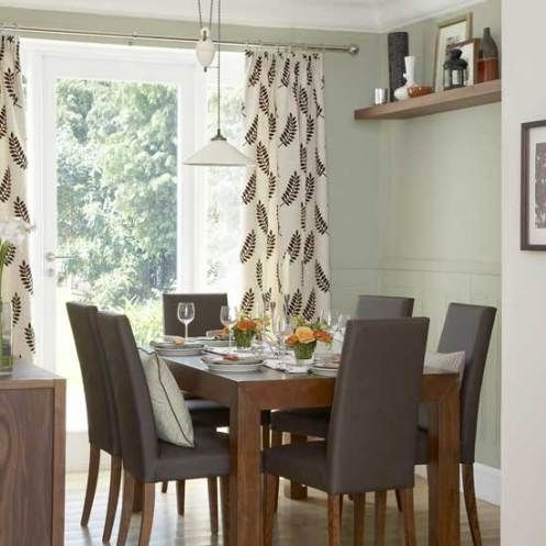 Neutral green and gray dining room home ideas dining for Neutral dining room ideas