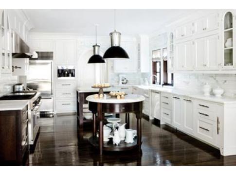 Dark floors white cabinets kitchen pinterest for White cabinets dark floors