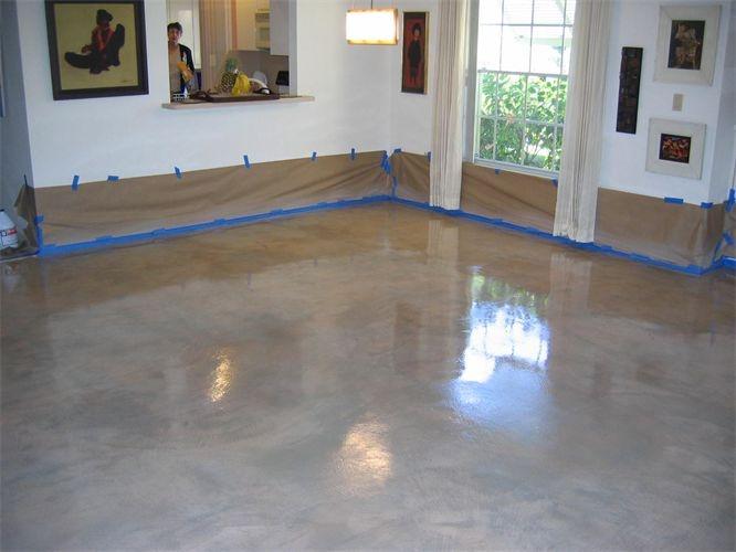 concrete floor color