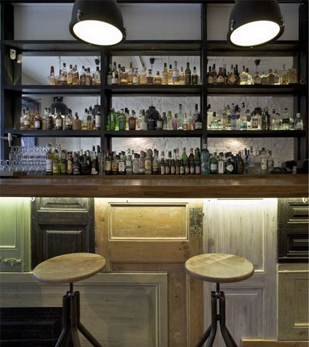 bar made with old doors