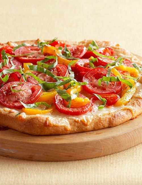 Cheesy Red Pepper Pizza | Yumsters | Pinterest