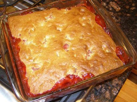 Strawberry Rhubarb Cobbler | Recipe