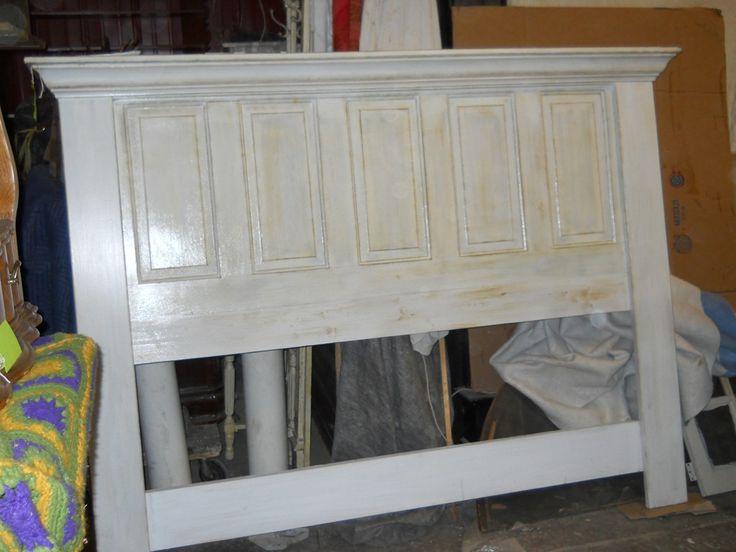 Door headboard steaming baths pinterest - Headboard made from old door ...