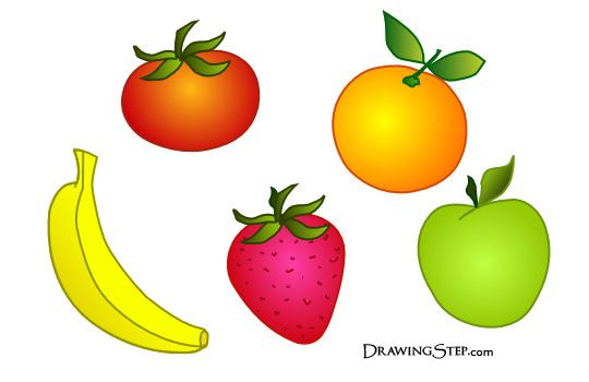 Funny Cartoon Fruit Drawings