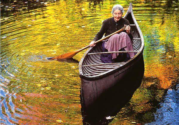 I don't want to just sit when I get old. I want to be active.  (Photo of Tasha Tudor.)