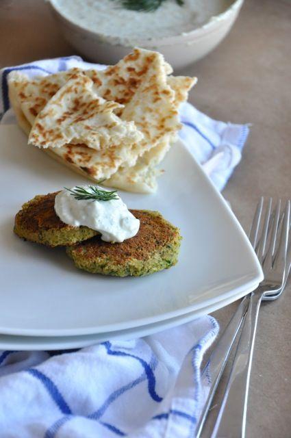 Falafel with tatziki sauce - love anything with ziki sauce!