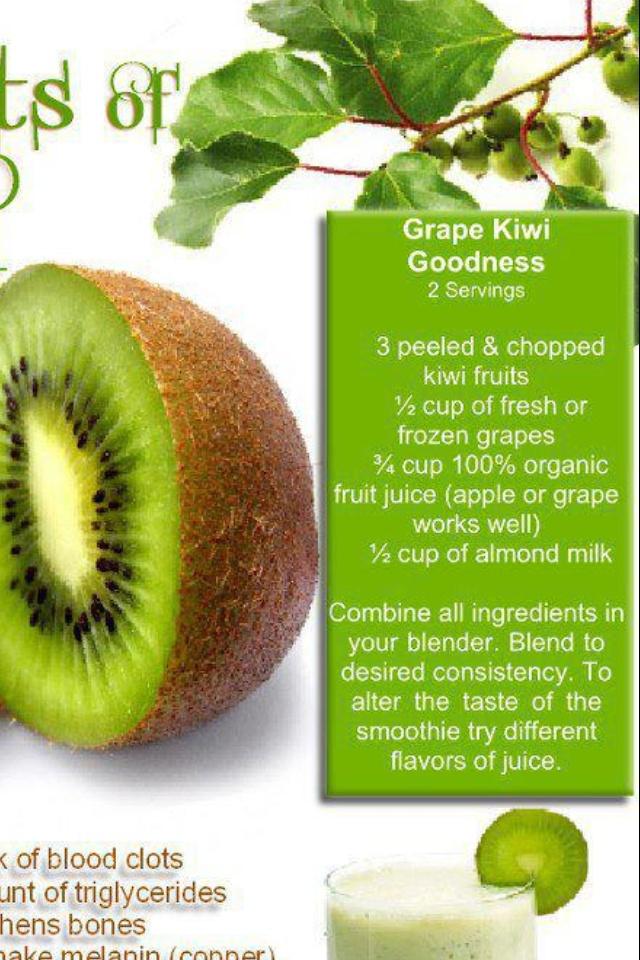 Kiwi smoothie | Skinnylicious | Pinterest