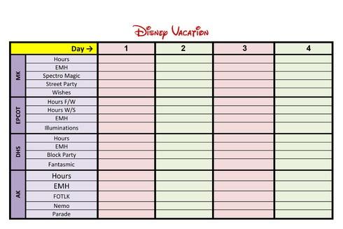 Disney Planner Template | Cool Templates @ www.template-kid.com