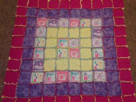 Rag Quilt Pattern For Beginners : Bright Beginners Baby Rag Quilt