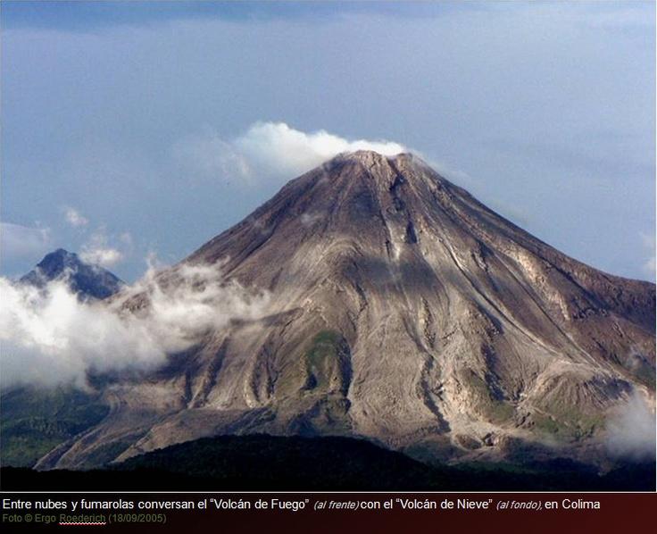 colima volcanos: