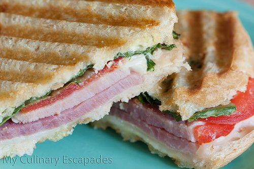 Leftover Easter Ham and Swiss Panini | My Culinary Escapades | Pinter ...