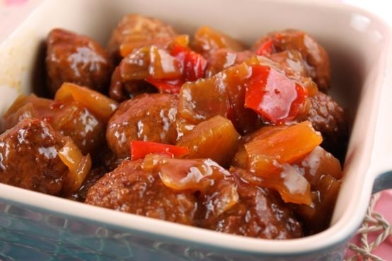 slow cooker sweet and sour meatballs | Crock pot recipes | Pinterest