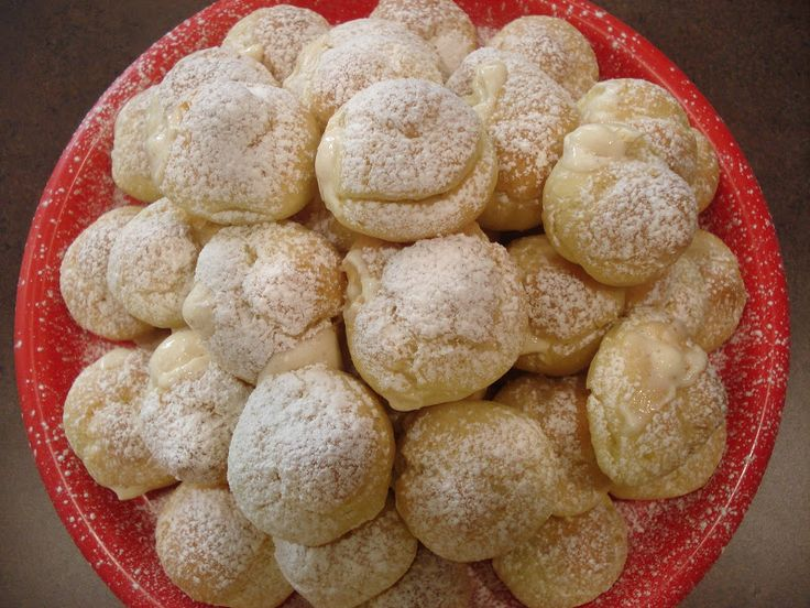 Egg Nog Cream Puffs | Christmas | Pinterest