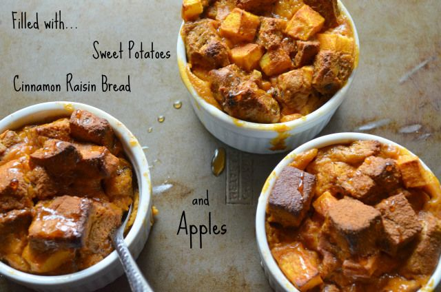 sweet potato bread pudding   Healthier Treats   Pinterest