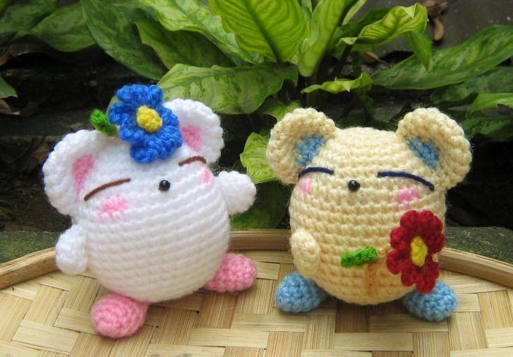 Crochet Amigurumi Flowers : Flowers For You amigurumi pattern by StripeysPatterns