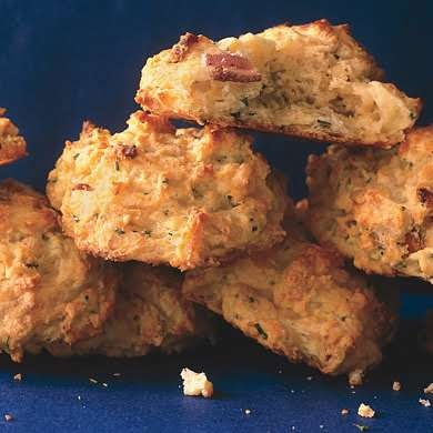 Cheddar, Bacon, and Fresh Chive Biscuits | Recipe