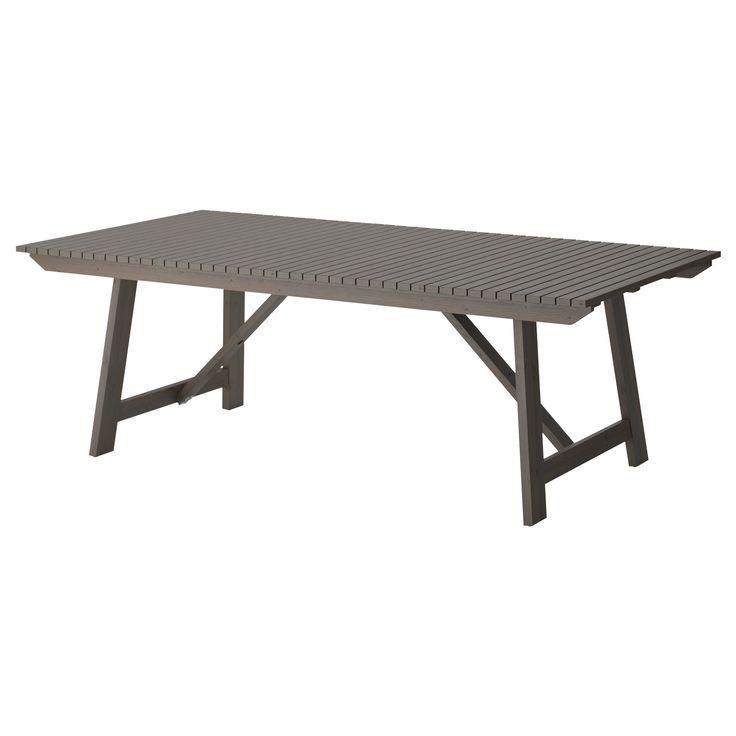 SUNDER Gray Wooden Outdoor Dining Table Exterior Delights Pinter
