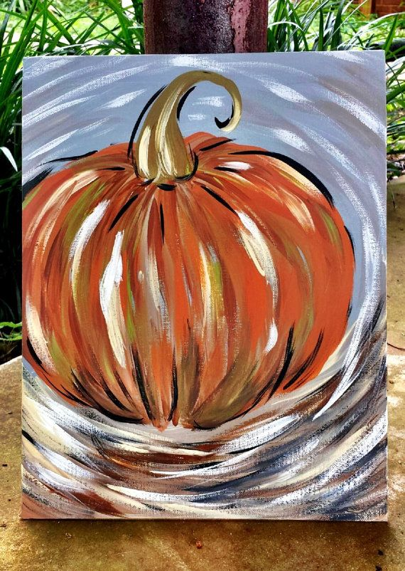 Halloween and fall paintings for Fall pictures to paint