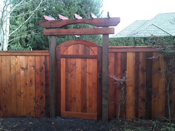 Backyard Fence Door - Home Design Ideas and Pictures