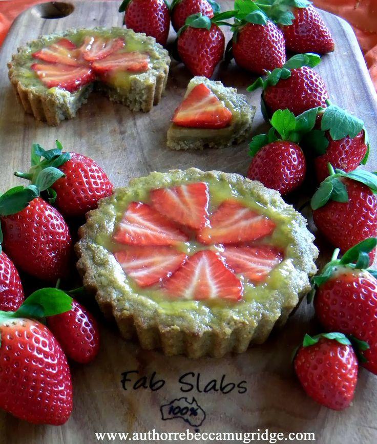 Sweet and healthy strawberry tart refined sugar free gluten free