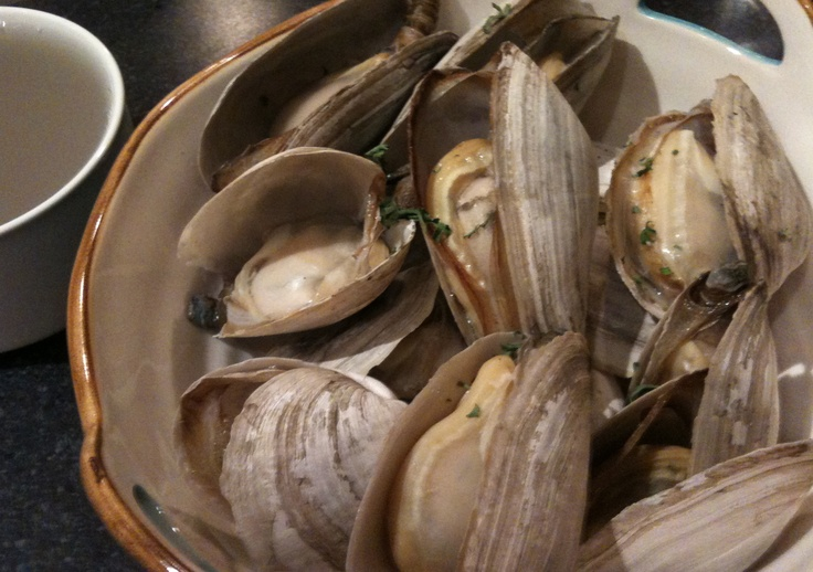 Soft-shell clams are called steamers because they're best served ...