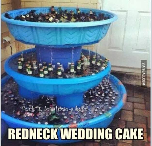 Redneck Cake Images : Oh yeah. Redneck wedding cake. Beer. Maddy s wedding ...