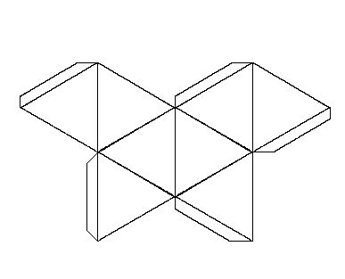 Solid shapes and their nets octahedron creative for 3d star net