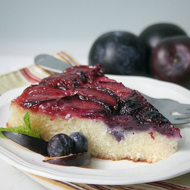 ... Grateful Prayer and a Thankful Heart: Plum Blueberry Upside Down Cake