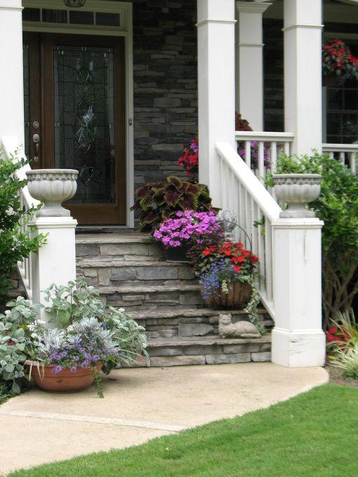 Front porch step ideas joy studio design gallery best for Landscaping front steps