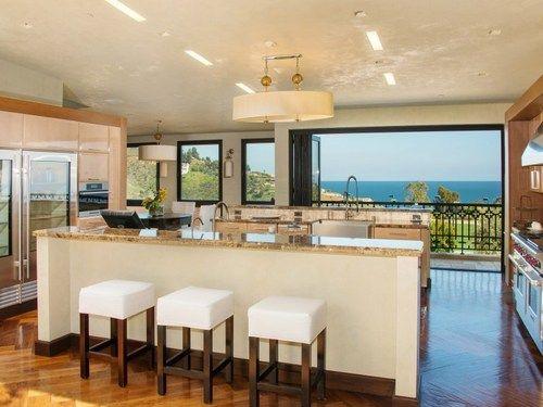big, beautiful, open, modern kitchen for my beachfront home ♥
