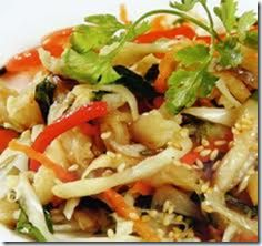 Vietnamese name is Gỏi Chay. Serve the salad by itself or over ...