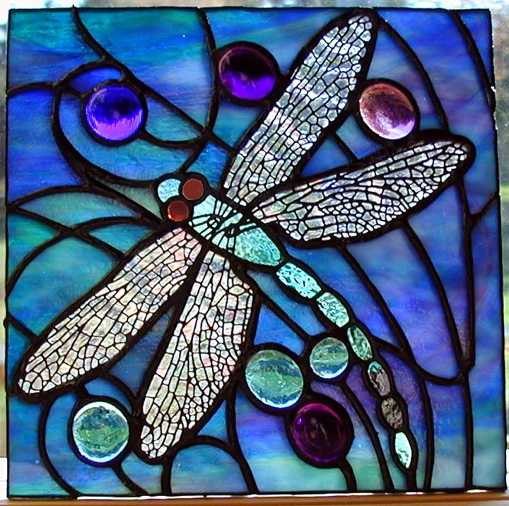 Stained glass dragonfly!