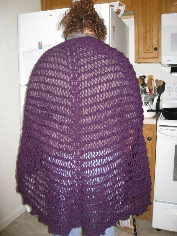 Knit Drop Stitch Shawl Pattern : Drop stitch knitted shawl Knitting Pinterest