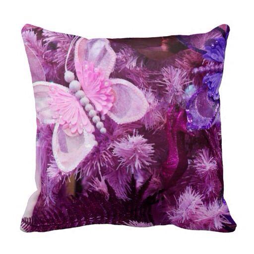 Pretty pillow butterflies pink amp purple pinterest