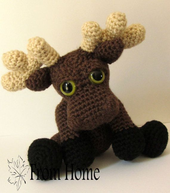 Amigurumi Moose : Crocheted Moose Amigurumi