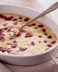 Raspberry Baked Custard Recipe from Food & Wine.....mmmm I'm totally ...
