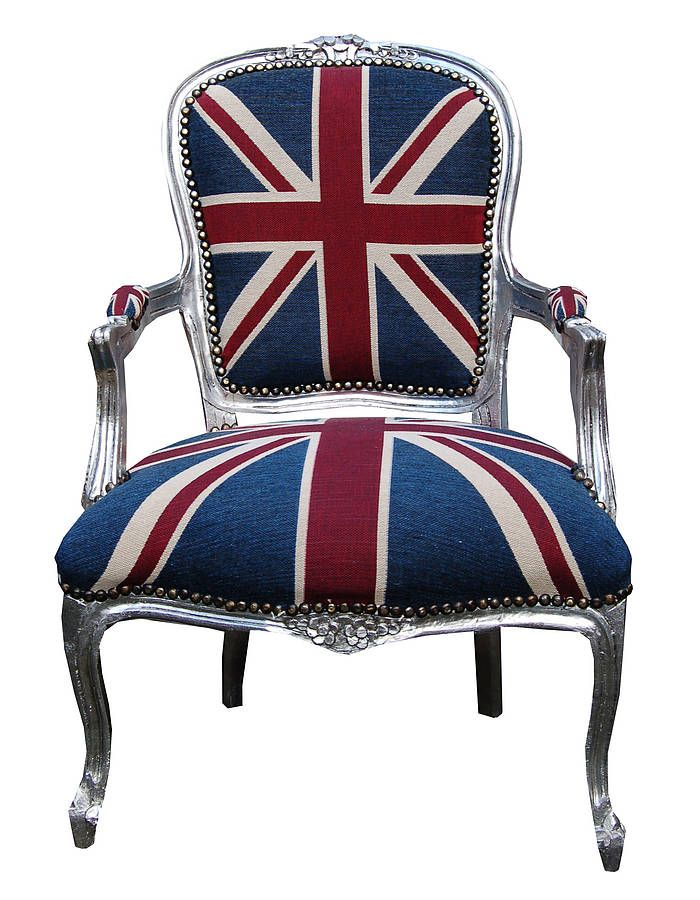Vintage Style Union Jack Throne Chair