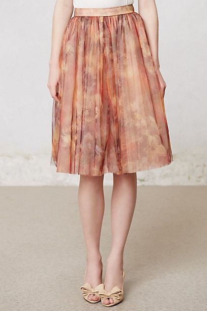 Amalia Tulle Skirt  #anthropologie
