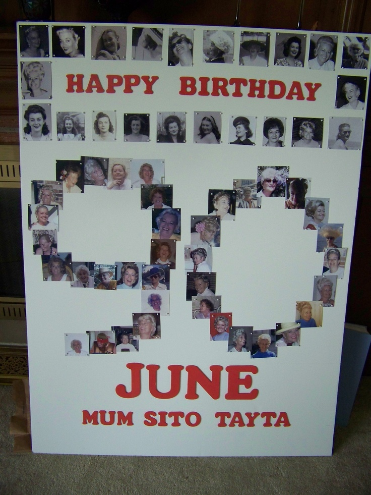 Just finished this picture board for my mothers 90th birthday party ...